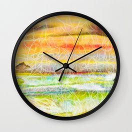 Sunset on the Pacific Wall Clock