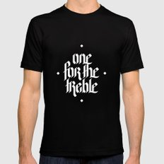 one for the treble Black MEDIUM Mens Fitted Tee