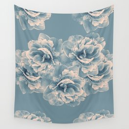 Blush Blue Peony Flower Bouquet #1 #floral #decor #art #society6 Wall Tapestry