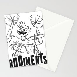 Percussionists drum rudiments Stationery Cards