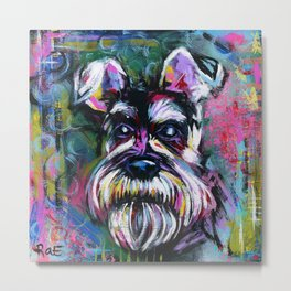 SCHOTZIE the SCHNAUZER Metal Print