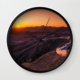 Great wall sunset Wall Clock