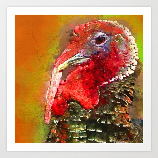 Thanksgiving Turkey, Turkey Painting, Turkey Art, Thanksgiving Decor, Turkey Animal, Turkey Art, Art Print