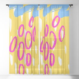 Watering Grapes Sheer Curtain