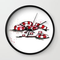 candy Wall Clocks featuring Candy!! by Rashmi Dagwar