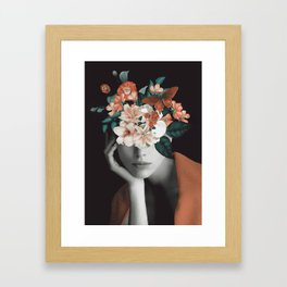 WOMAN WITH FLOWERS 7 Framed Art Print