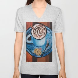 Cappucino Time Unisex V-Neck