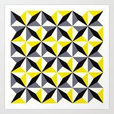 Geometric Pattern #165 (yellow triangles) Art Print