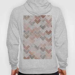 Rose Gold and Marble Geometric Tiles Hoody