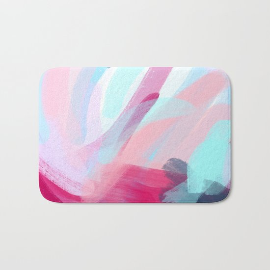 Pastel Abstract Brushstrokes Bath Mat