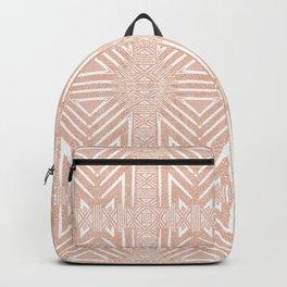 Nappy Faux Velvet Framed Wicker Repeat in Peach Backpack
