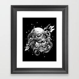 hidden kraken Framed Art Print