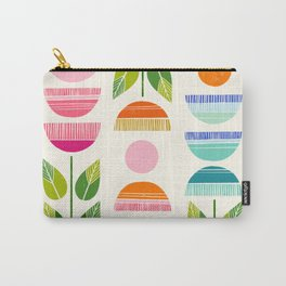 Sugar Blooms - Abstract Retro Inspired Design Carry-All Pouch