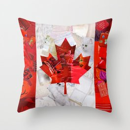 Oh Canada! Throw Pillow