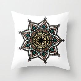 Detailed mandala: colored Throw Pillow