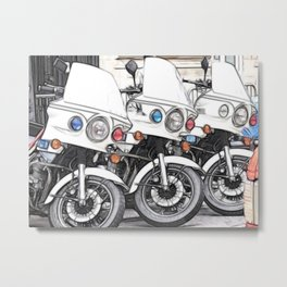 Chips Fractalius Motorbikes Metal Print