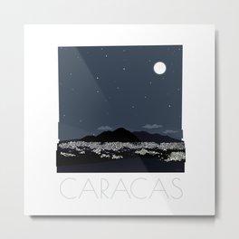 Caracas City at Night by Friztin Metal Print