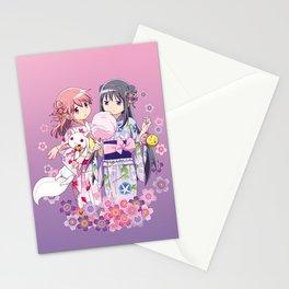 Madoka Kaname & Homura Akemi - Love Yukata edit. Stationery Cards