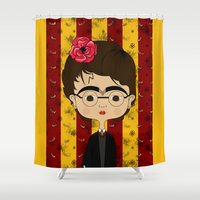 potter Shower Curtains featuring Frida Potter by Camila Oliveira