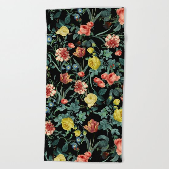 NIGHT FOREST XV Beach Towel