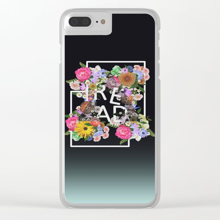 Read, just read Clear iPhone Case