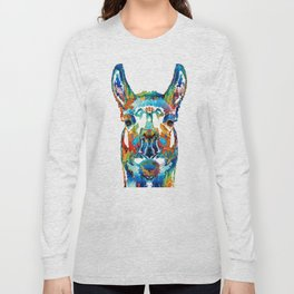 Colorful Llama Art - The Prince - By Sharon Cummings Long Sleeve T-shirt
