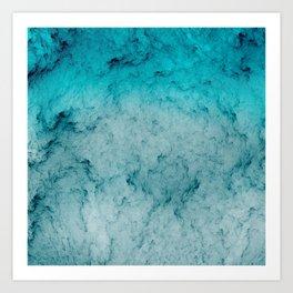 Deep Sea Blue Art Print