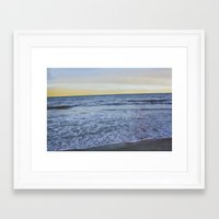 rileigh smirl Framed Art Prints featuring Ocean Sunset by Rileigh Smirl
