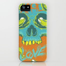 Rage Love Skull iPhone Case