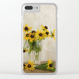 bouquet of yellow rudbeckias Clear iPhone Case