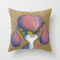 buffy Throw Pillows featuring Buffy by MissyandFriends
