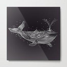 white whale in the ocean Metal Print