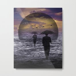 Walking into a Sea of Change Metal Print