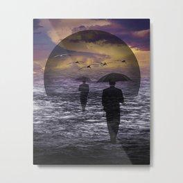 Walking into a Sea of Change Metal Print
