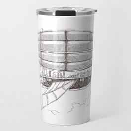 Airship sketch in Steampunk style Travel Mug