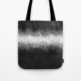 Dark Charcoal and White Abstract Tote Bag