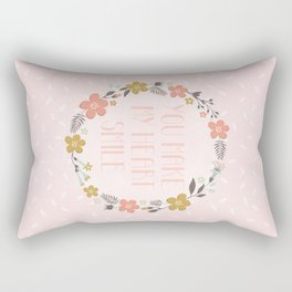 You make my heart smile Rectangular Pillow