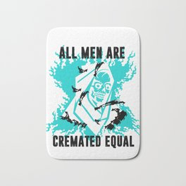 All Men are Cremated Equal Skeleton Halloween Bath Mat