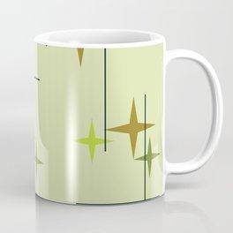 Mid Century Modern Stars Chartreuse Coffee Mug