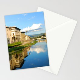 The Arno River - Florence Italy Stationery Cards