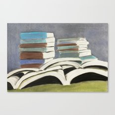 Books - Pastel Illustration Canvas Print