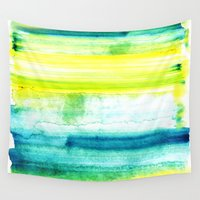 swimming Wall Tapestries featuring Swimming Upstream by Picomodi