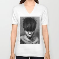 rock n roll V-neck T-shirts featuring Rock N Roll by ''Befne''