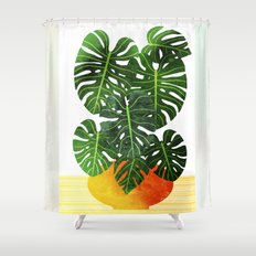 Swiss Cheese Plant Shower Curtain