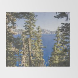 Cabin at the Lake Throw Blanket