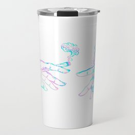 the creation of weed- holographic Travel Mug