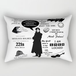 Sherlock Holmes Quotes Rectangular Pillow