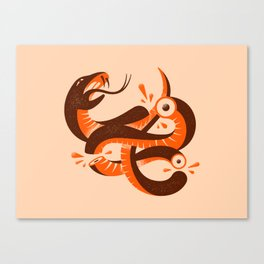 To HELL with the devil! Red/Orange Canvas Print