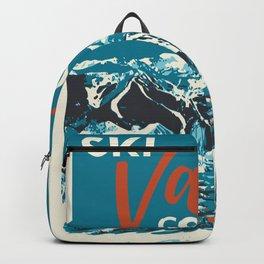 Ski Vail Colorado, vintage poster Backpack