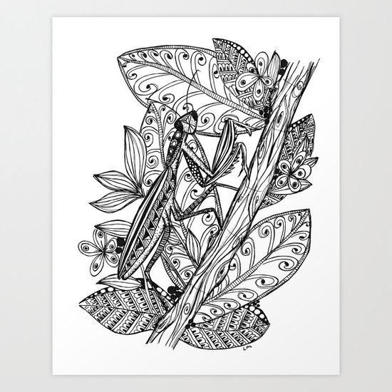 Praying Mantis in Ink by lauramax